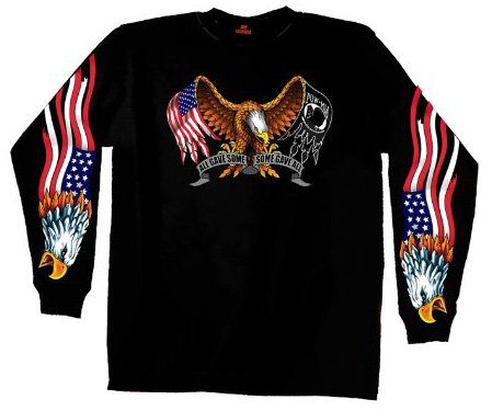 Hot Leathers Some Gave All Long Sleeve T-Shirt (Black, Large)