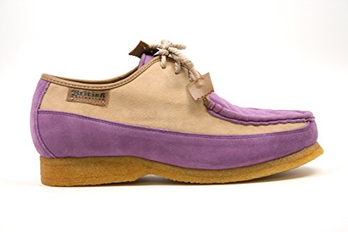 Britse Collectie Heren Crown Veterschoen, Lavendel / Beige Suede, 10 M Lavendel / Beige