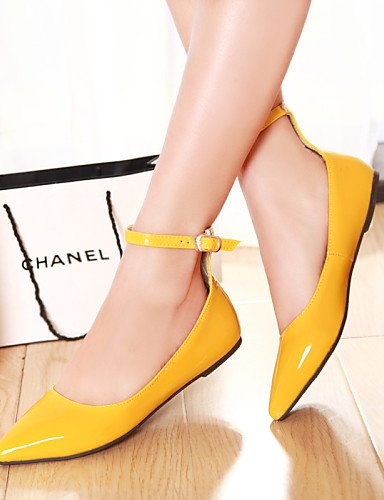 zapatos plano de us8 rojo amarillo Flats mujeres negro red cn39 azul verde Toe Casual PDX las señaló talón almendra uk6 eu39 qgpXdpw