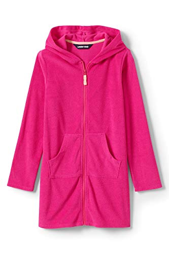 Lands' End Girls Kangaroo Pocket Swim Cover-Up