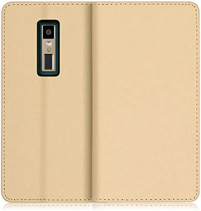 LOOF SKIN KYOCERA BASIO4 / KYV47 ケース 手帳型 カバー 上質な手触り ベルト無し カード収納 カードポケット スタンド機能 手帳型ケース スマホケース (ネイビー)