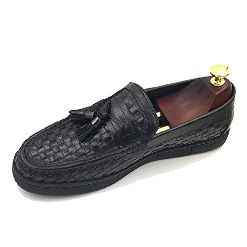 Cuoio Tessitura Traspirante Scarpe Black Coreana Singole Scarpe da di Scarpe Uomo Moda rrEBTw1q