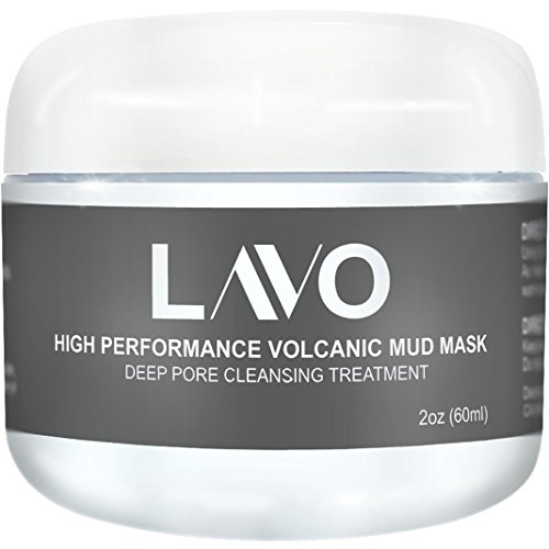 LAVO High Performance Volcanic Mud Mask - Best Mask for Oily Skin and Acne - Made for Salons - No Other Mask Will Give You Softer Skin - For Men and Women