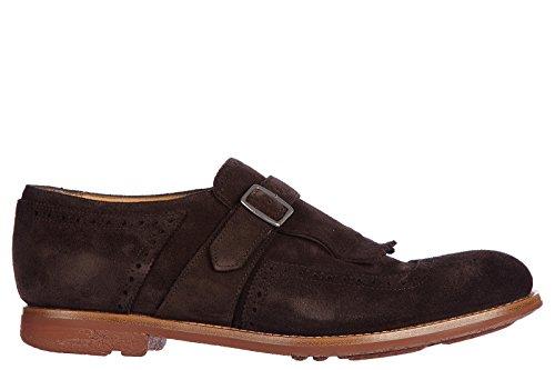 Churchs Clásico Zapatos EN Ante Hombres Nuevo Monkstrap Marrón