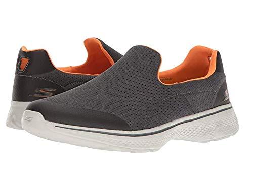 Skechers Performance Men's Go Walk 4 Incredible Walking Shoe, Charcoal/Orange 9.5 W US