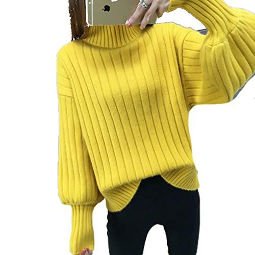 Cyose Fashion Shawl Sweater Version Short Sweater for Women Hooded Bat Sleeve Lady's Sweater Yellow XXL