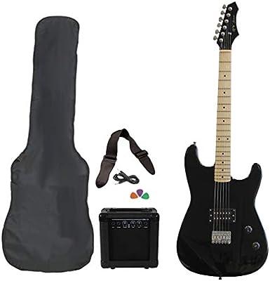 Jameson guitarras rwgt280bk tamaño completo guitarra eléctrica con amplificador y funda Starter Pack de accesorios, color negro: Amazon.es: Instrumentos musicales