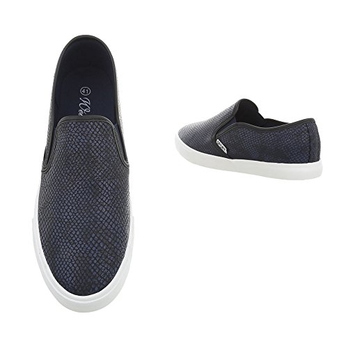 WD1616B Ital Pantofole Design Donna Dunkelblau qzwqgIrn