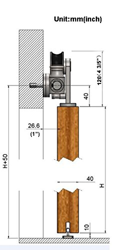 AiHom 244cm porte de grange en acier inoxydable dint/érieur de porte int/érieure Grange mat/ériel Track coulissante kit Porte en bois Rail Track kit