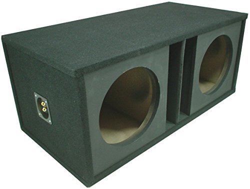 niversal Subwoofer Paintable Baffle Slot Vented Port Sub Box Speaker Enclosure ()