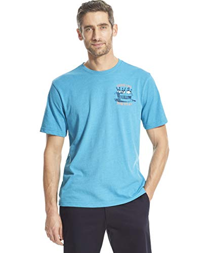 IZOD Men's Short Sleeve Graphic T-Shirt, Caneel Bay, XX-Large ()