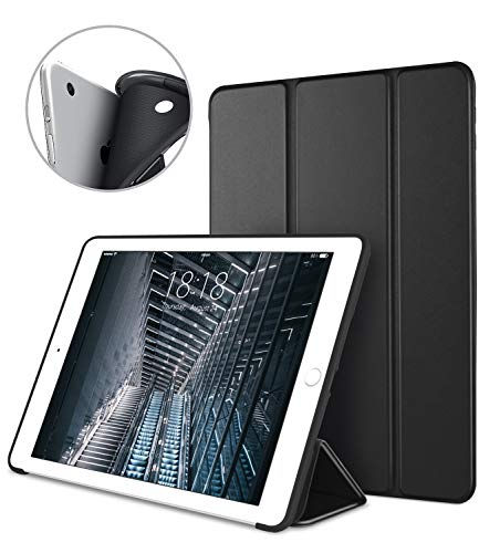 DTTO iPad Air 1st Edition Case, (NOT for iPad Air 2 and Air 3) Ultra Slim Lightweight Smart Trifold Stand with Flexible Soft TPU Back Cover [Auto Sleep/Wake], Black