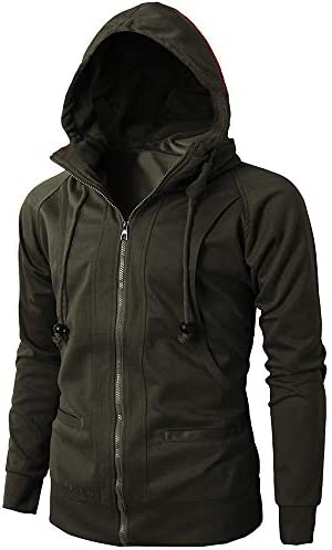Mens Heavy Blend Fleece Hooded Sweatshirt Pullover EcoSmart Fleece Hooded Sweatshirt NRUTUP Deals