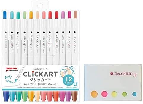 WYSS22-12CDK Zebra CLiCKART Dark 12 color Water-Based Color Pen
