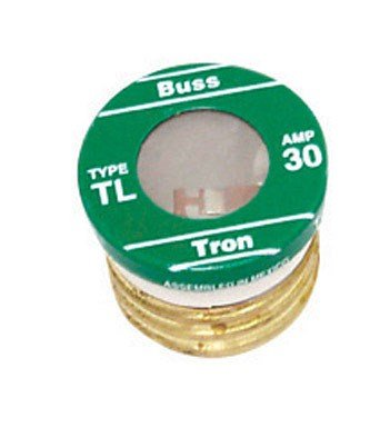Bussman TL-30PK4 30 Amp TL Edison Plug Time Delay Fuse 4 Count by Cooper Bussmann
