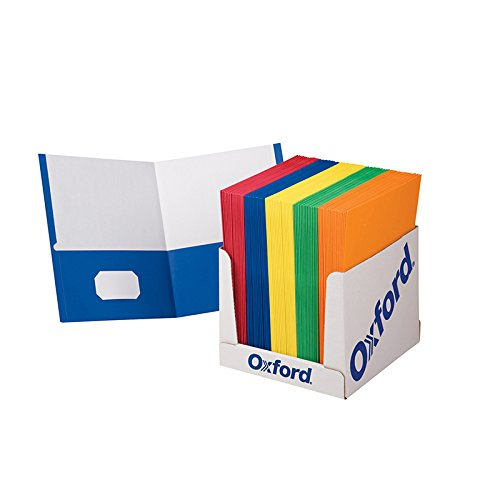 School Grade Twin Pocket Folders; 100 per Box; no. ESS50763 by Esselte