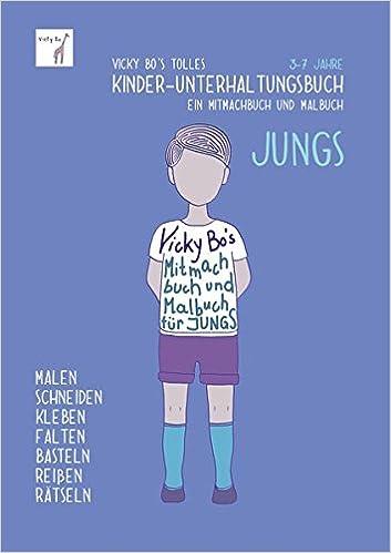 Kinder Unterhaltungsbuch Jungs Mitmachbuch Und Malbuch 3 7 Jahre