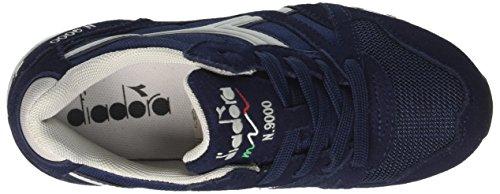 Diadora N9000 y, Zapatilla de Deporte Baja del Cuello Unisex Niños Azul (Blu Classico/grigio Grattaciel)
