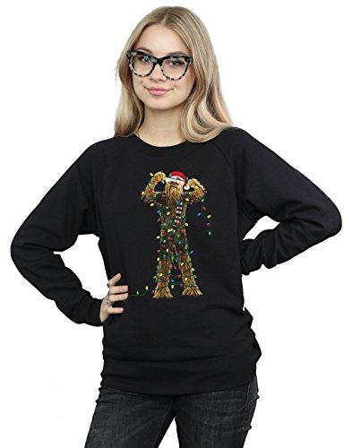 Star Wars Women's Chewbacca Christmas Lights Sweatshirt Medium Black]()