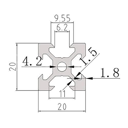 Asdomo 100-1000mm 2020 V-slot Aluminum Profile Extrusion Frame For ...