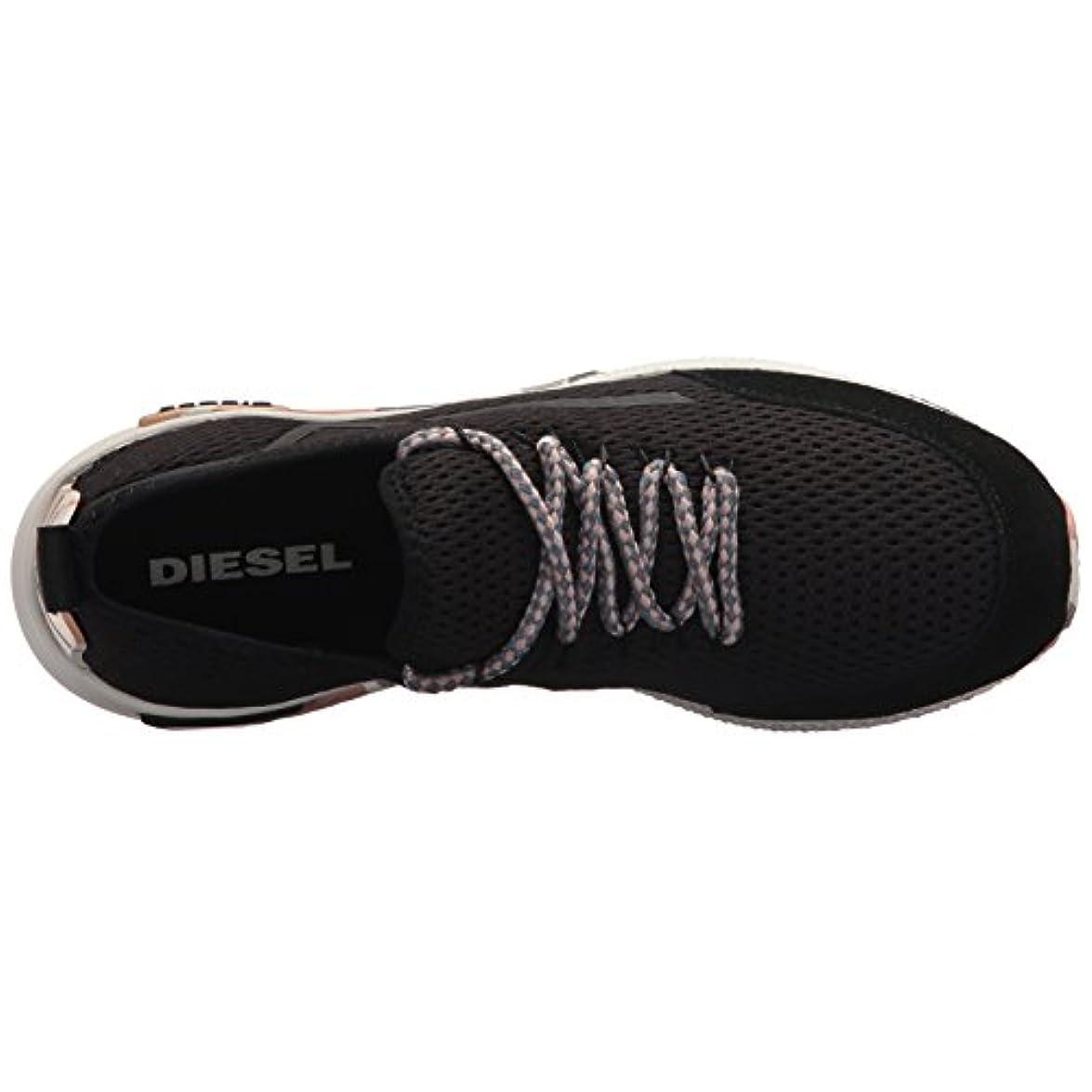 Diesel Donna - Sneakers In Mesh Nero Con Dettagli Camo Numero 39