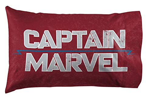 Jay Franco Captain Marvel Taking Off Pillowcase Red ()