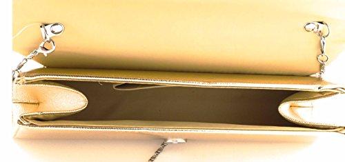 Hello Bag! - Cartera de mano de Material Sintético para mujer plata