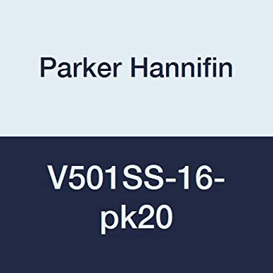 Pack of 5 1 Male Thread x 1 Female Thread Parker Hannifin V501SS-16-pk5 Stainless Steel Industrial Ball Valve 2000 psi Stainless Steel Seal Parker Hannifin Corporation Pack of 5 1 Male Thread x 1 Female Thread