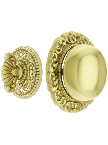 Beaded Polished Brass Push Plate - 6