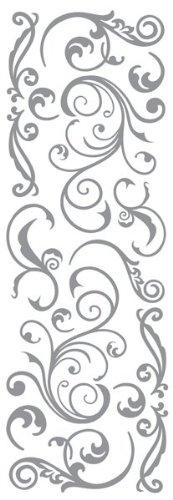 Momenta Puffy Flourish Sticker, Silver Inc. ST-5287