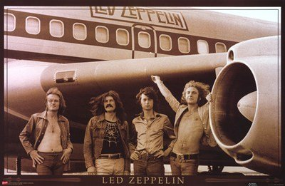 Led Zeppelin - Plane by Unknown 34.00X22.00. Art Poster Print