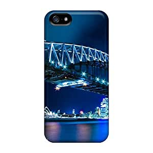 New Snap-on AnnetteL Skin Case Cover Compatible With Iphone 5/5s- Sydney Harbour Bridg