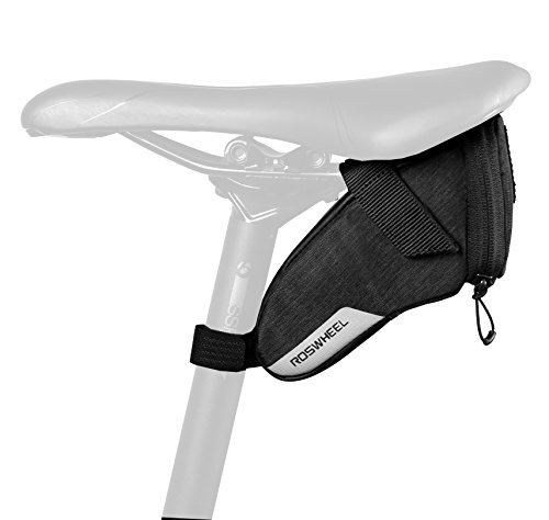 (Roswheel Essentials Series 131470 Bike Saddle Bag Bicycle Under Seat Pack Cycling Accessories Pouch Biking Pannier, Small)