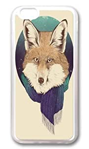 Apple Iphone 6 Case,WENJORS Adorable Fox Soft Case Protective Shell Cell Phone Cover For Apple Iphone 6 (4.7 Inch) - TPU Transparent