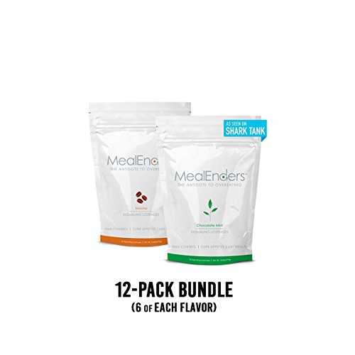 MealEnders Signaling Lozenges–Conquer Cravings, Curb Snacking, Beat Overeating, and Master Portion Control–Helps with Any Diet Weight Loss Program, 25-pc Pouch (Pack of 12) (Mocha/Chocolate Mint) by MealEnders