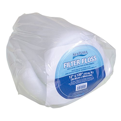 Seapora 4040 Filter Floss Aquarium Filter Pad, 10 sq. ft./12