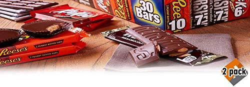 Hershey Candy Bar Assorted Variety Pack (HERSHEY'S Milk Chocolate, HERSHEY'S Milk Chocolate Almond, KIT KAT, REESE'S Cups), Full Size, 30 Count