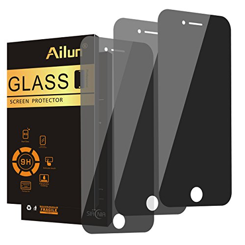 Ailun Privacy Screen Protector for iPhone 8 plus 7 plus,Full Coverage,Anti-Spy,Anti-Glare,[3 Pack],2.5D Edge Tempered Glass for iPhone 8/7 plus,Anti-Scratch,Case Friendly