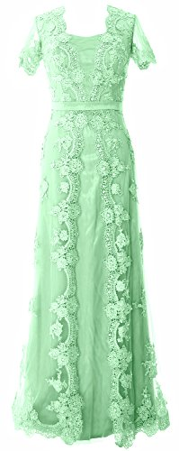 MACloth Women Short Sleeve Lace Mother of the Bride Dress...