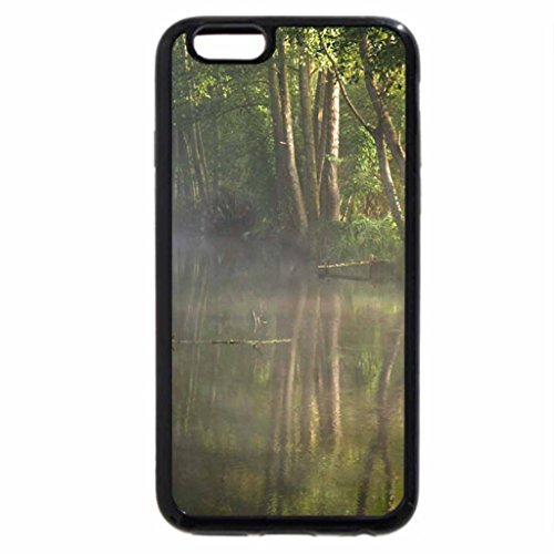 iPhone 6S / iPhone 6 Case (Black) Misty Morning on a Forest River