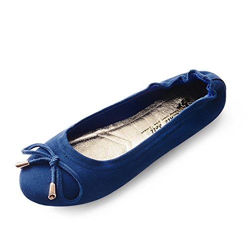 Zapatos de moda/Cabeza arco zapatos/Simple superficial plana zapatos de mujer C