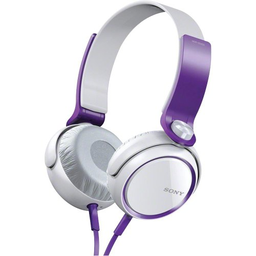 Sony MDR XB400 Ear Headphones Violet