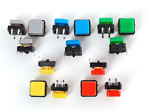 Adafruit Colorful Square Tactile Button Switch Assortment -