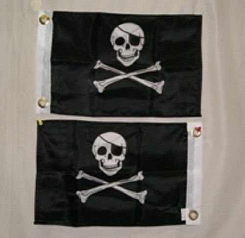 12x18 Jolly Roger Pirate Eye Patch Double Sided 12''x18'' Flag Boat Motorcycle BEST Garden Outdor Decor polyester material FLAG PREMIUM Vivid Color and UV Fade Resistant