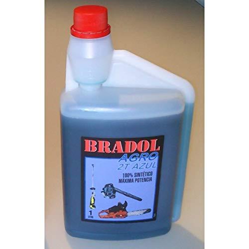 Bradol Agro 2T Azul 1L Aceite Motores 1 L 100% Sintetico: Amazon ...
