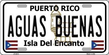 Cara King LP-2813 Aguas Buenas Puerto Rico Metal Novelty License Plate