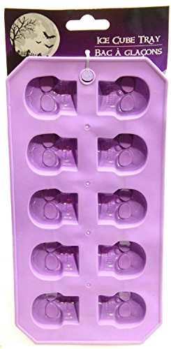 [Skull Ice Cubes Kids Teen Toddlers Halloween Flexible Silicone Ice Cube Mold Trays Pumpkins Spooky Creepy Rubber Tray Jello Chocolate Soap Mold] (Easy Homemade Mermaid Costumes)