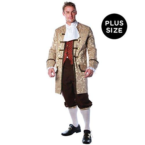 [Underwraps Men's Plus-Size Colonial Man, Tan/Brown/Rust, XX-Large] (Ben Franklin Costumes Child)