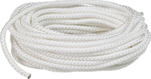 SeaSense Multi-Purpose Nylon Diamond Braid Cordage, 3/16-Inch X 50-Foot, White (50' White Nylon Rope)