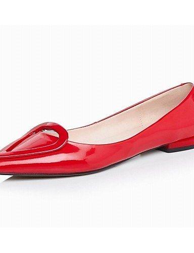 Ballerine Stivali Piatto punta Red ShangYi Pelle A Scarpe Nero Donna Rosso Casual U0YSE7q